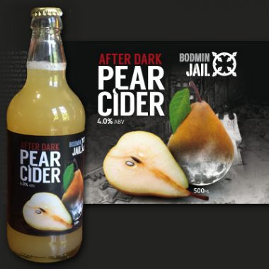 Bodmin Jail pear cider bottle label