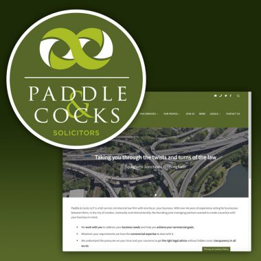 Paddle and Cocks brand nd website